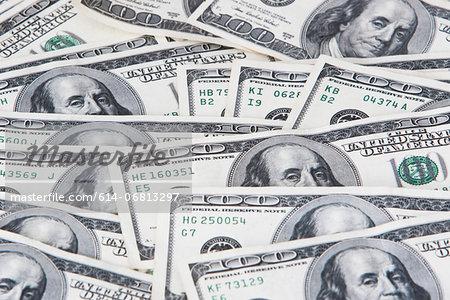 One hundred dollar bills