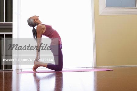 Woman stretching backwards