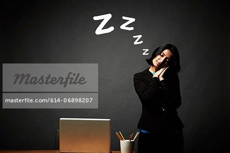 Woman in restful slumber
