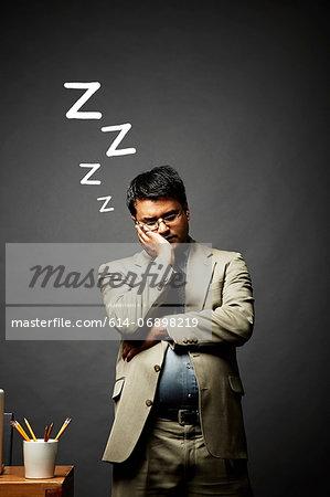 Man in disturbed slumber