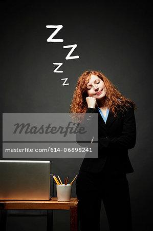 Woman in sweet slumber
