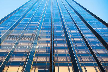 Oblique view of skyscraper, New York City, USA