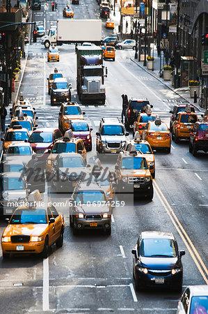 Traffic congestion, New York City, USA