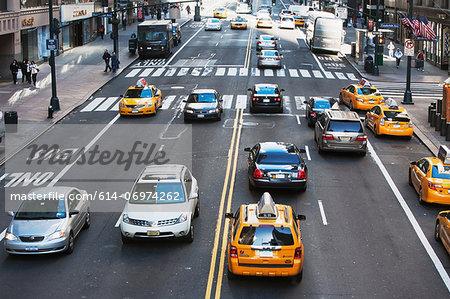 Traffic on 42nd Street New York, USA