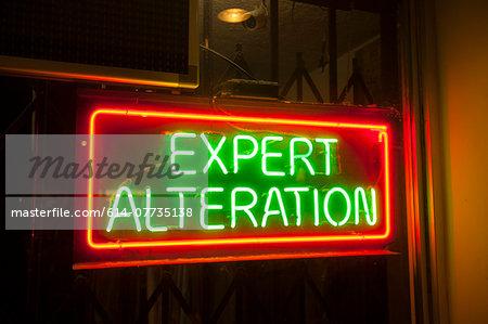 Tailors, neon sign, Los Angeles, California, USA