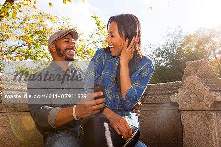 Happy couple, Central Park, New York, USA