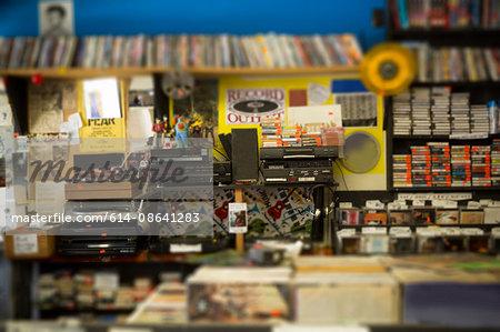 Interior of record shop