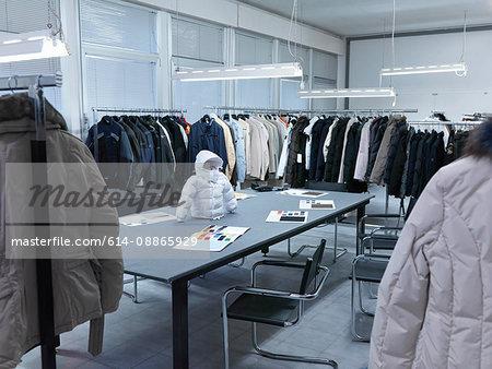 Clothing manufacturer's sample studio