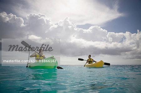 Two Women Kayaking