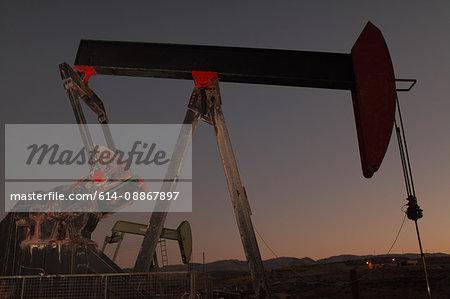 Pump at oil field