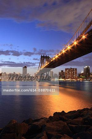 New York City lit up at night