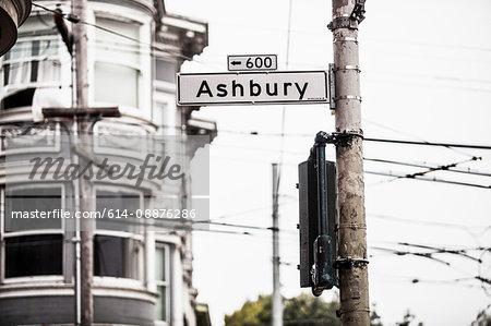 Ashbury sign, San Francisco, California, USA