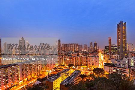 Mong Kok apartment buildings, Hong Kong, China