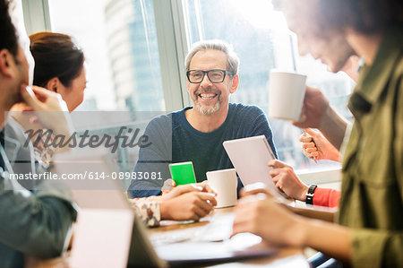 Digital design team having meeting in office