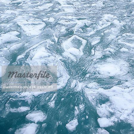 Sea ice on surface of sea