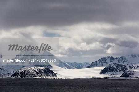 Smeerenburg Fjord, Amsterdamoya, Spitsbergen, Svalbard, Norway