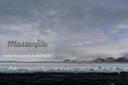 Pack ice, Wahlenberg fjord, Nordaustlandet, Svalbard, Norway
