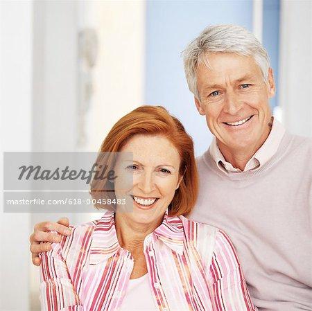 portrait of a mature couple posing