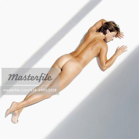 Naked women on the floor, nursery rhyme chubby cheeks