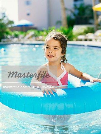 Girl in a swimming pool