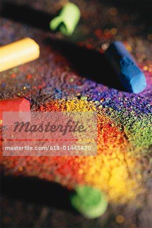 Multicolored oil pastels