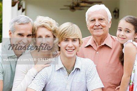 Portrait of family.
