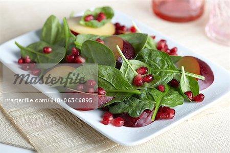 Pomegranate and Plum Salad