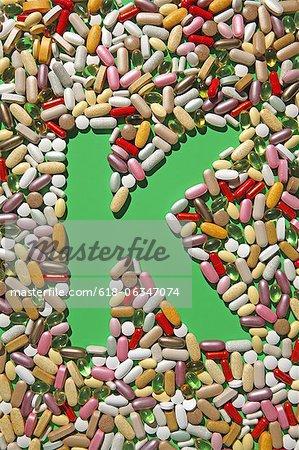 Multi-vitamin pills and capsules