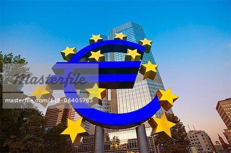 Euro Sign, Frankfurt, European Central Bank, Frankfurt - Main, Hesse, Germany