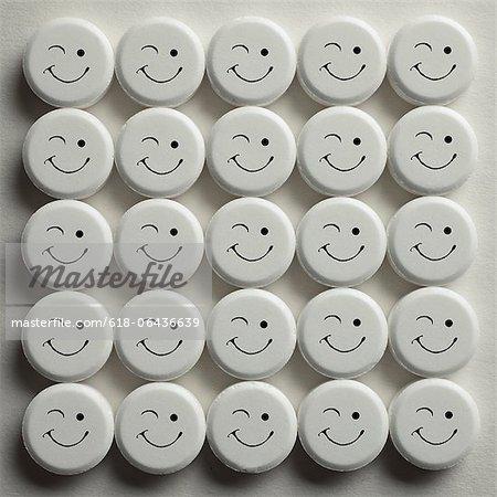 Twenty Five recreational drugs in pill form