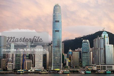 Skyline, Hong Kong.