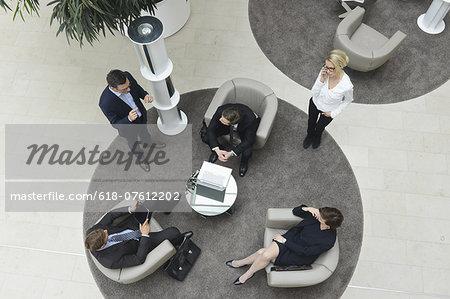 Business people meeting in lobby