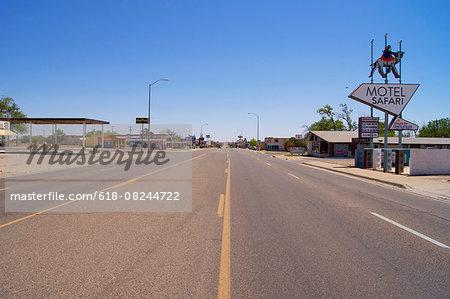 Route 66 in Tucumcari.