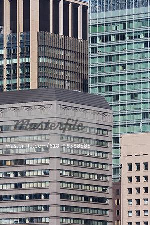Modern office buildings in Tokyo