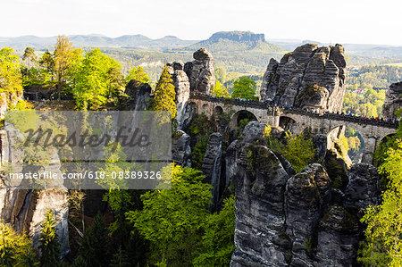Basteibrucke in the Elbe Sandstone Mountains