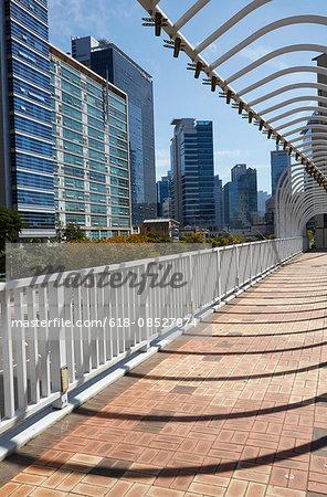 Footbridge in the Centum Park district of Busan