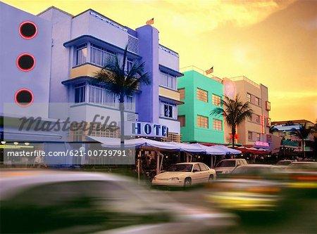 art deco buildings in miami beach stock photo masterfile