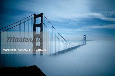 Fog Surrounding The Golden Gate Bridge