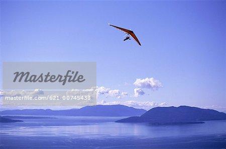 Hang glider Against Blue Skies