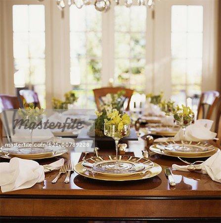 Elegant Dinner Party Table Setting - Stock Photo & Elegant Dinner Party Table Setting - Stock Photo - Masterfile ...