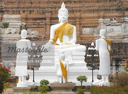 Buddha Iconography at Ayutthaya, Thailand