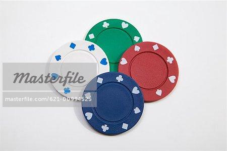 Four Poker Chips