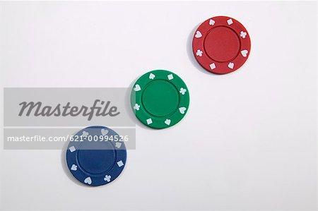Three Poker Chips
