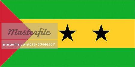 Sao Tome and Principe National Flag