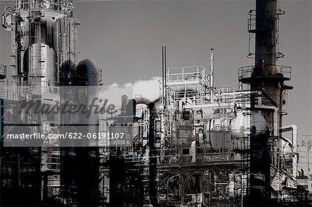 Factory Scene At Dusk
