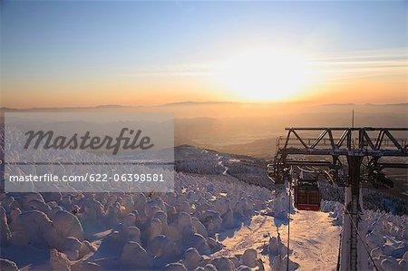 Frozen rime in Zao, Yamagata Prefecture