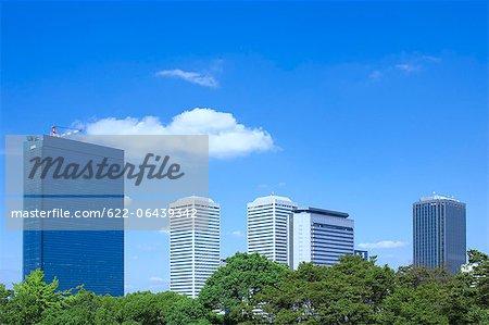 Osaka Business Park and blue sky