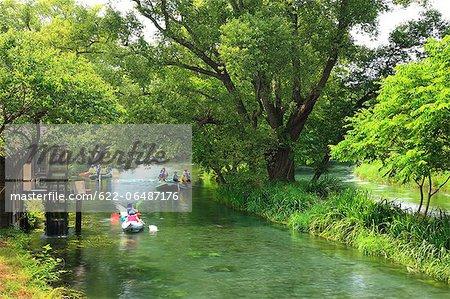Boats at Daio wasabi garden, Nagano Prefecture