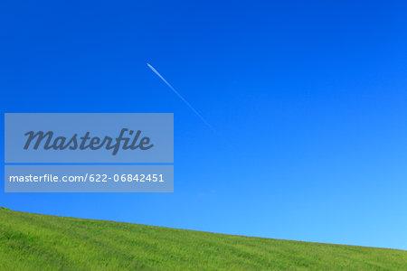 Grassland and blue sky, Hokkaido