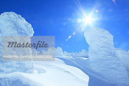 Snow in Zao, Yamagata Prefecture